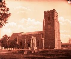 Felsham Church with National School pre 1900 (1)